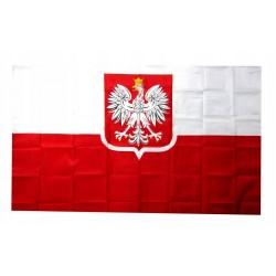 Flaga Polski z godłem...